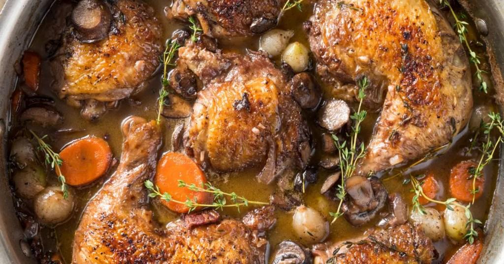 Coq au chicken