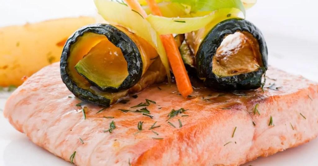 Salmon-Wrapped Zucchini