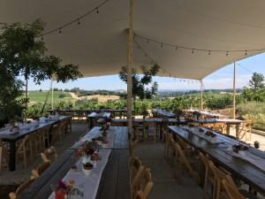 Iron Hub Tent Wedding Reception