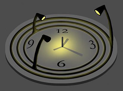 The Bulbdial Clock
