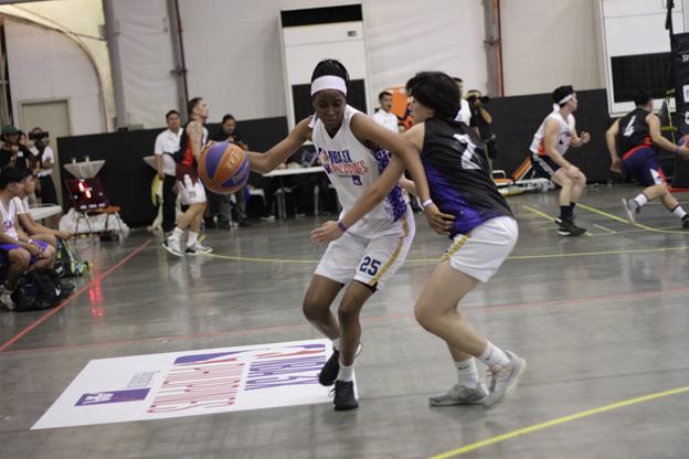 GAME ON. Intense action at the NBA 3X Women's Division as ballers play hard for the gold.