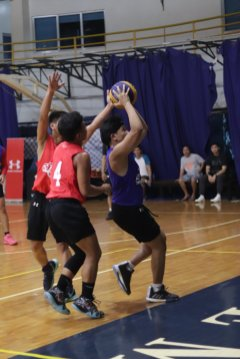 Proper defense techniques such as blocking and 2-man defense press were taught on the UA 3x3 basketball event
