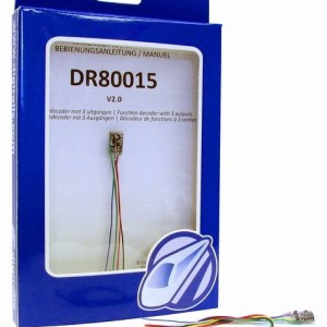 Digikeijs DR80015 Function Decoder V2.0 – 3 Outputs – Multiple Lighting Effects