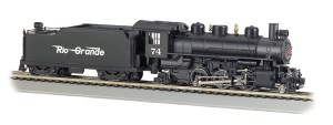 Bachmann HO Rio Grande #74 Flying 2-6-2 Prairie With Smoke 51526