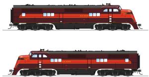 Broadway Limited HO Alton EMC EA A-Unit Diesel #100A P3 Sound/DC/DCC 5504