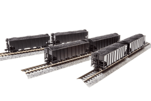 Broadway Limited N Scale Unlettered Undecorated H2a Hopper 6 Pack