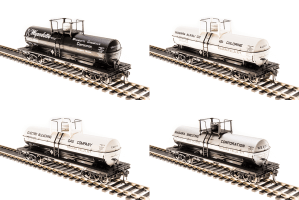 Broadway Limited 6127 HO 6000 Gallon Tank Car Variety Set B ~ 4 Pack