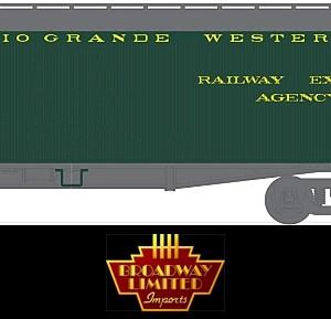 Broadway Limited 1827 HO Denver & Rio Grande 53'6″ Wood Express Reefer #1607