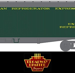 Broadway Limited 1828 HO General American 53'6″ Wood Express Reefer #901