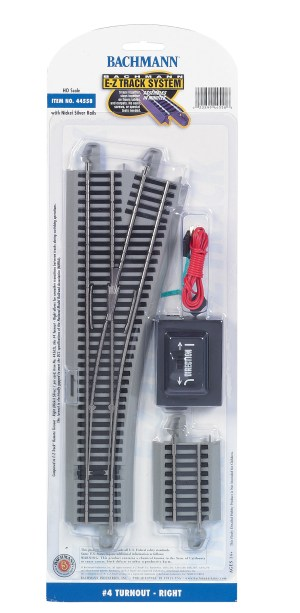Bachmann E-Z Track #4 Turnout – Right – HO Scale 44558