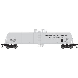 Atlas N Scale GATX Monfort Packing 20,700 Gallon Tank Car #35818 ~50004629