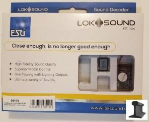 ESU 58419 LokSound V5.0 DCC/MM/SX/M4 ~ Blank Decoder ~ 21 Pin ~ With Sugar Cube Speaker
