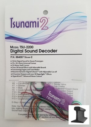 Soundtraxx Tsunami 2 ~ TSU-2200 Steam – 2 ~ Sound Decoder 884007
