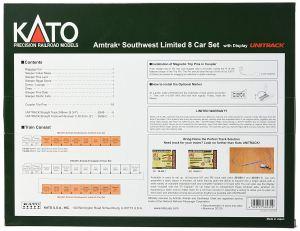 Kato N Amtrak Southwest Limited 8-Car Set With Display Unitrack 106081