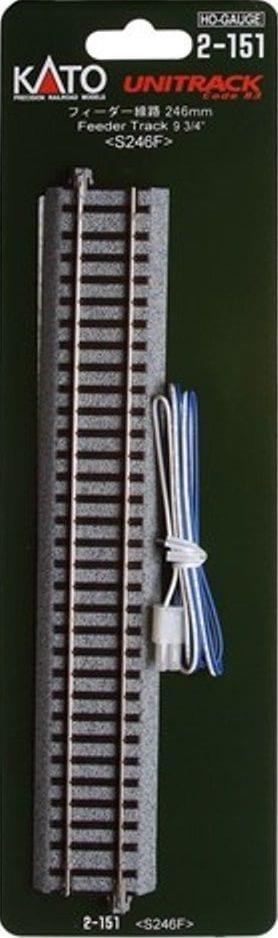 Kato HO UniTrack 246mm 9 3/4 Inch Straight Feeder Track 1 pc 2-151