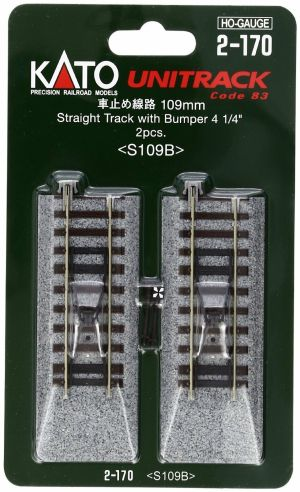 Kato HO UniTrack 109mm 4 1/4 Inch Track Bumpers 2 pcs 2-170