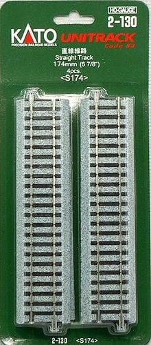 Kato HO UniTrack 174mm 6 7/8 Inch Straight 4pcs 2-130