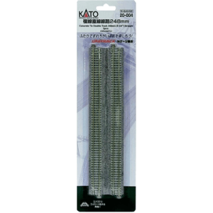 Kato N UniTrack 248mm 9 3/4″ Concrete Double Straight Track WS248PC (2 pcs) 20-004