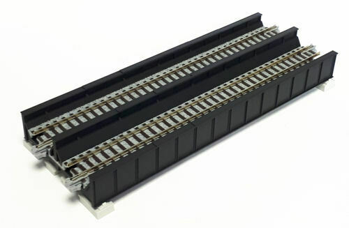 Kato N UniTrack Single Track Plate Girder Bridge 186mm 7 5/16″ Black WS186T  (1 pc) 20-458