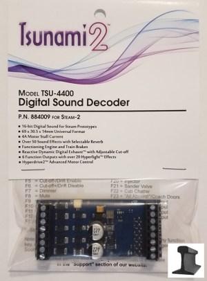 Soundtraxx Tsunami 2 ~ TSU-4400 (Steam-2) DCC Sound Decoder 4 Amp ~ 884009