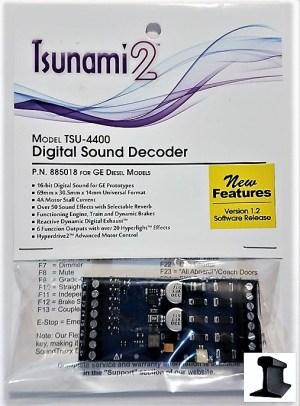 Soundtraxx Tsunami 2 ~ TSU-4400 GE Diesel DCC Sound Decoder 4 Amp ~ 885018