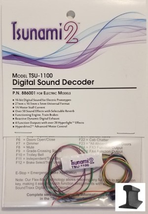 Soundtraxx Tsunami 2 ~ TSU-1100 Electric Sound Decoder ~ 886001