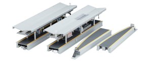 Kato N Scale UniTrack Suburban Island Station Platform DX Set 23-160