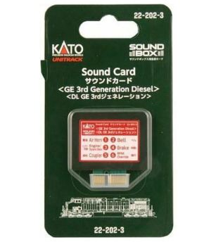 Kato 3rd Generation GE Diesel Soundcard for Sound Box 22-202-3