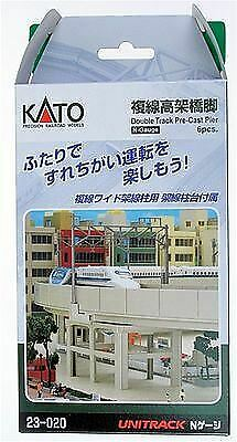 Kato N Scale UniTrack Train Track Double Track Pier Set (6 Pcs) 23-020