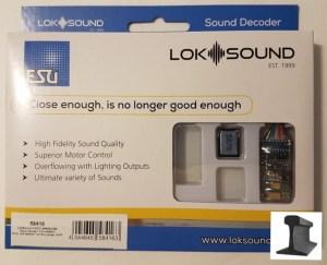 ESU 58416 LokSound V5.0 DCC/MM/SX/M4 ~ Blank Decoder ~ 6 Pin ~ With Sugar Cube Speaker