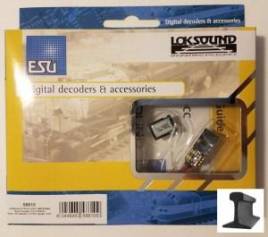 ESU 58810 LokSound V5.0 Micro 8 Pin ~ DCC/MM/SX/M4 ~ With Sugar Cube Speaker