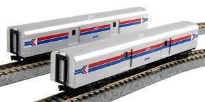 Kato N Smooth Baggage Car Amtrak C (2) #1075 #1076 1063512