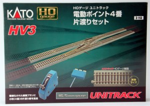 Kato HO Scale HV-3 Electric Turnout #4 Left Hand Single Crossover Track Set 3-113