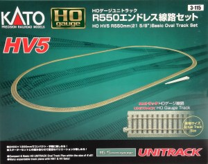 Kato HO Scale HV-5 R550mm Basic Oval Track Set 3-115