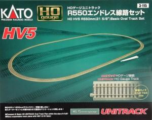 Kato HO Scale HV-5 R550mm Basic Oval Track Set 3-115