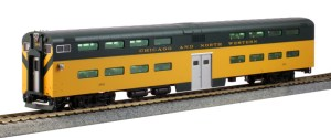 Kato HO Scale C&NW Pullman Bi-Level 4 Window Cab Coach #184 35-6026