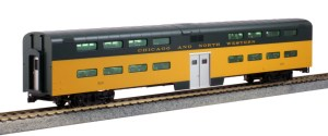 Kato HO Scale C&NW Pullman Bi-Level 4 Window Coach #184 35-6037
