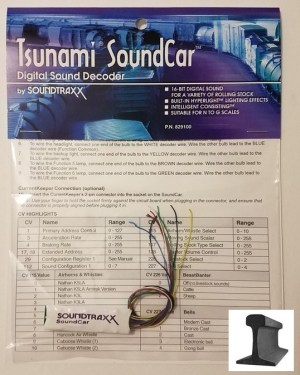 Soundtraxx SoundCar Decoder 16 Bit With Hyperlight ~ N – G ~ 829100