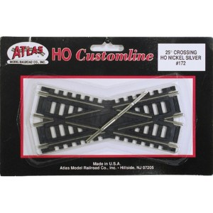 Atlas HO Code 100 Track 25-Degree Custom Line Crossing 172