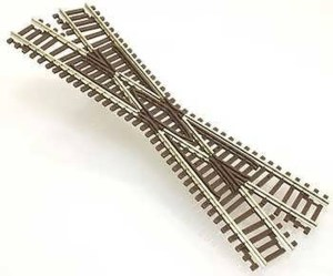 Atlas N Scale Code 55 Track 22.5 Degree Crossing 2041