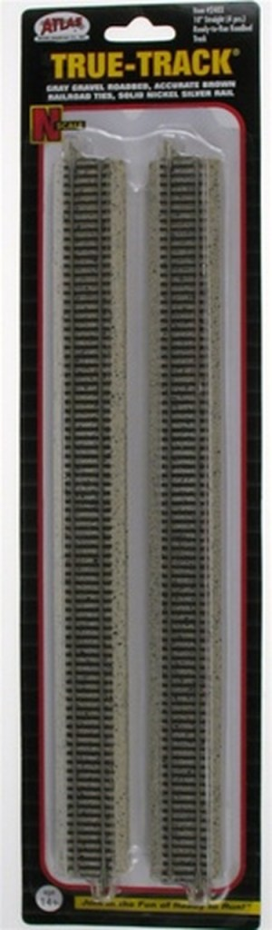 Atlas N Scale Code 65 True-Track 10″ Straight (4 pcs) 2403