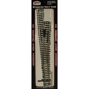 Atlas HO Scale Code 100 Custom Line Mark 3 #6 Right Hand Turnout 284