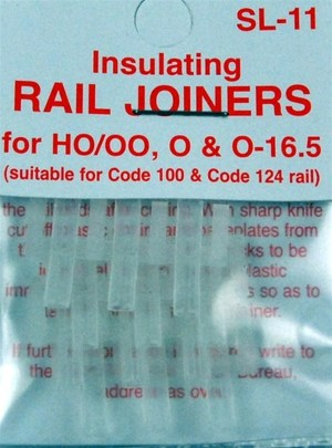 Peco HO Code 100 & 124 Insulated Rail Joiners (12 pcs) SL-11