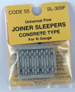 Peco N Scale Code 55 & 80 Concrete Joiner Ties (24 pcs) 309F