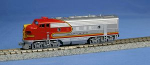 Kato N Scale EMD F7A Santa Fe Warbonnet #301 With DCC ~ 176-2121DCC