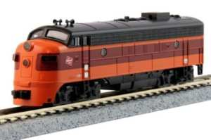 Kato N Scale Milwaukee Road FP7A Locomotive #90C Hiawatha With DCC 176-2302DCC