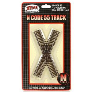 Atlas N Scale Code 55 Track 45 Degree Crossing 2043