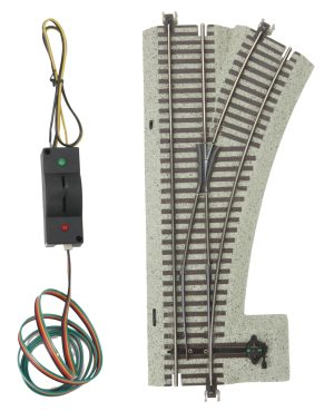 MTH S Gauge #3 Remote Control Switch Turnout Right Hand 35-1018