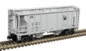 Atlas N Scale Trainman PS-2 Covered Hopper Jersey Central #755 50004185