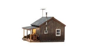 Woodland Scenics HO Built and Ready Rustic Cabin BR5065